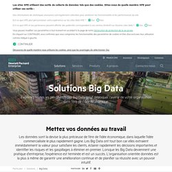 Solutions Big Data – Architecture, infrastructure et analyse Hewlett Packard Enterprise (HPE)
