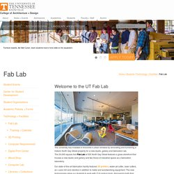 UT College of Architecture and Design - Innovative learning and actions in Architecture, Interior Design, and Landscape Architecture at the University of Tennessee.