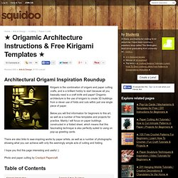 Origamic Architecture Instructions & Free Kirigami Templates