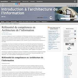 Référentiel de compétences en Architecture de l'information