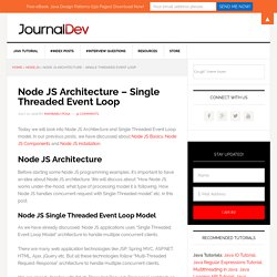 Node JS Architecture - Single Threaded Event Loop - JournalDev