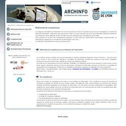 Référentiel de compétences - master Architecture de l'information de l'université de Lyon