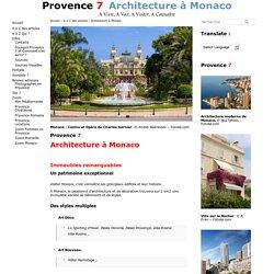 Architecture à Monaco