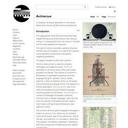 Architecture - Monoskop