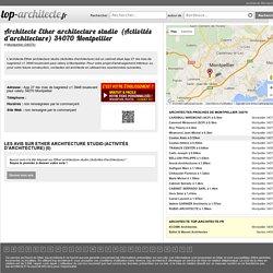 Architecte Ether architecture studio (Activités d'architecture) 34070 Montpellier - Coordonnées, téléphone, avis