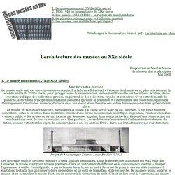 Architecture des musées au XXe