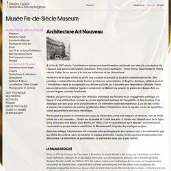 Architecture Art Nouveau – Musée Fin-de-Siècle Museum