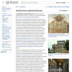 Architecture paléochrétienne