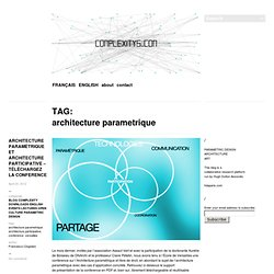 Parametric design architecture pearltrees for Architecture parametrique