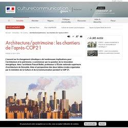 Architecture/patrimoine : les chantiers de l'après-COP21