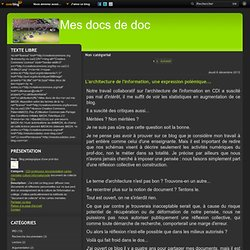 MES DOCS DE DOC