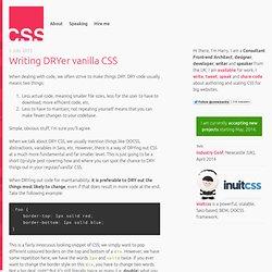 Writing DRYer vanilla CSS