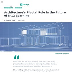 Architecture's Pivotal Role in the Future of K 12 Learning