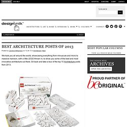 Top Architecture Posts of 2013
