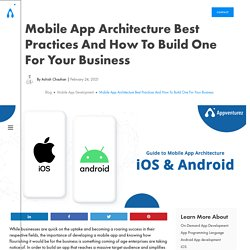Mobile App Architecture Best Practices and How to Build One for Your Business