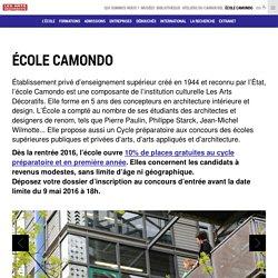 École Camondo - école, architecture intérieure, design, architecte d'intérieur, arts appliqués préparatoire, formation artistique, décoration