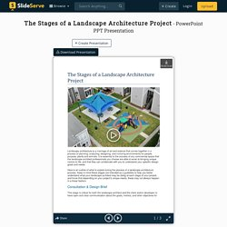 The Stages of a Landscape Architecture Project PowerPoint Presentation - ID:10054913