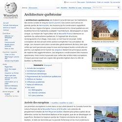 Architecture québécoise