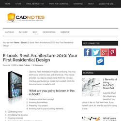 E-book: Revit Architecture 2010: Your First Residential Design
