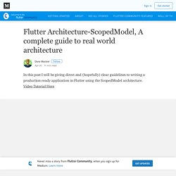Flutter Architecture-ScopedModel, A complete guide to real world architecture