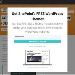 CSS Architecture Block-Element-Modifier (BEM) - SitePoint