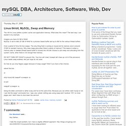 Linux 64-bit, MySQL, Swap and Memory
