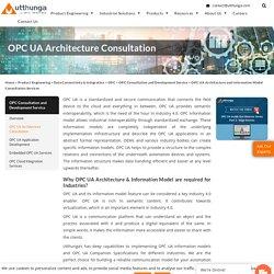 OPC UA Architecture Consultation