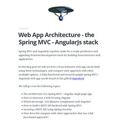 Web App Architecture - the Spring MVC - AngularJs stack