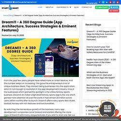 Dream11 - A 360 Degree Guide (App Architecture, Success Strategies & Eminent Features) - Startupmart