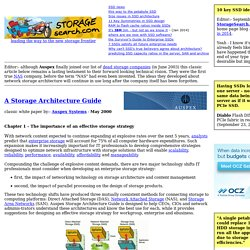 Storage Architecture Guides - on StorageSearch.com