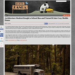 Architecture Student Bought a School Bus and Turned It Into Cozy Mobile Home