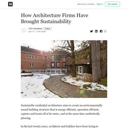 How Architecture Firms Have Brought Sustainability ?
