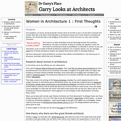 Women in Architecture | archsoc.com