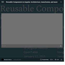 Reusable Components in Angular: Architecture, transclusion, and more