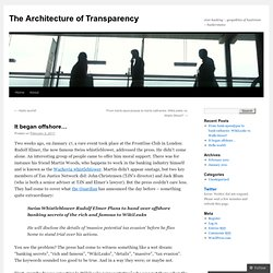 The Architecture of Transparency