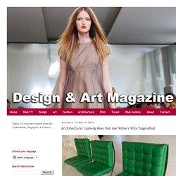 Design & Art Magazine: Architecture: Ludwig Mies Van der Rohe's Villa Tugendhat