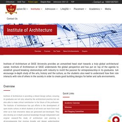 Best University For Architecture In Indore - Sage University Indore
