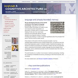 Language & Cognitive Architecture Lab, University of Michigan