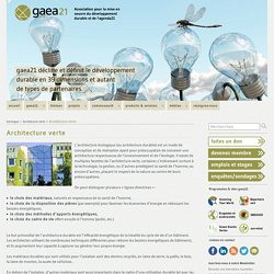 Architecture verte » gaea21