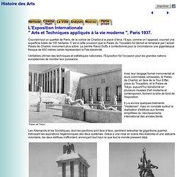 Histoire des Arts - Ville, architecture et art au vingtième siècle