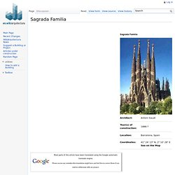 Sagrada Familia - WikiArquitectura - Buildings of the World