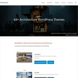 44+ Architecture WordPress Themes - Postashio