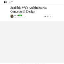Scalable Web Architectures Concepts & Design