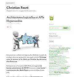 Architectures logicielles et APIs Hypermédias
