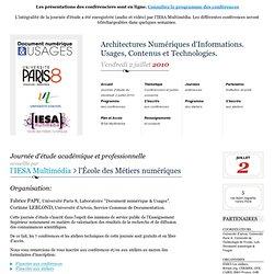 Architectures Numériques d'Informations. Usages, Contenus et Tec