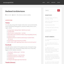 Backend Architectures