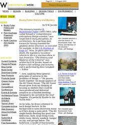 Noticias - Bucky Fuller Historia y Misterio - 2003.0813
