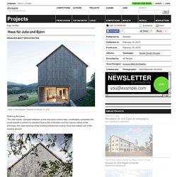 Innauer-Matt Architekten — Haus für Julia und Björn
