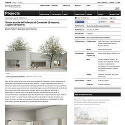 Bruno Fioretti Marquez Architekten — Nuova scuola dell'infanzia di Cassarate (5 sezioni), Lugano (Svizzera)
