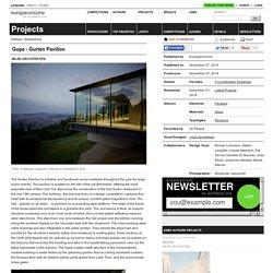 :mlzd Architekten — Gupa - Gurten Pavilion